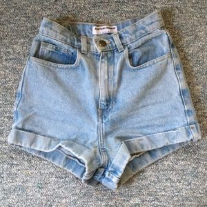 Anerican Apparel High-Waisted Denim Shorts (Sz. 2)